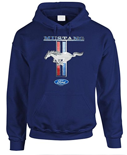 FORD MUSTANG PONY STRIPE - cobra race car Pullover Hoodie, XL, Navy