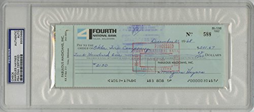 Marques Haynes SIGNED CHECK Harlem Globetrotters AUTOGRAPHED Encapsulate - PSA/DNA Certified - NBA Cut Signatures by Sports Memorabilia