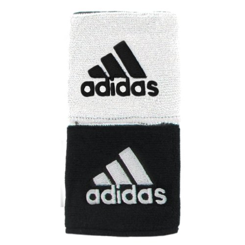 adidas Interval Reversible Wristband, White/Black / Black/White, One Size Fits All
