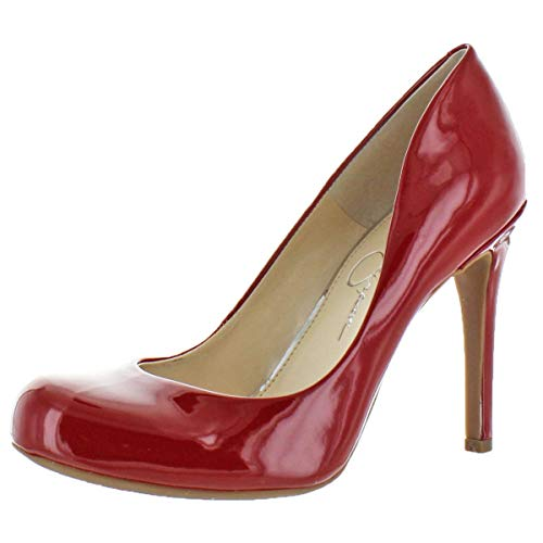 Jessica Simpson Women's Calie Round Toe Classic Heels Pumps Shoes Red Size 6