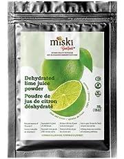 Miski Good Foods Lime Juice Powder, No Preservatives, No Artificial Flavours, Colours, Non-GMO, Gluten-Free, Vegan, Kosher, 200 g, Green