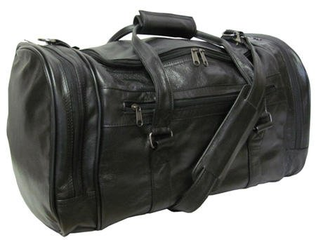 amerileather-leather-20-in-u-shaped-duffel-black