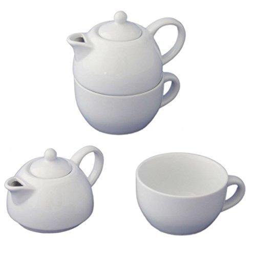 175ml Porzellan Tea for One Kaffeekanne Teekanne Teeservice Kaffeeservice Kanne mit Deckel Set Megaprom