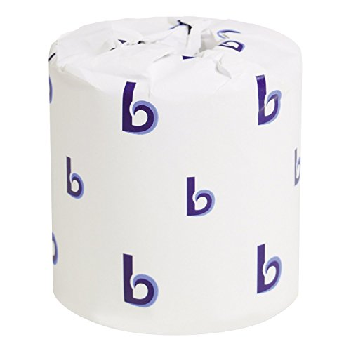 Boardwalk 6145 Bathroom Tissue, Standard, 2-Ply, White, 4 x 3 Sheet, 500 (Bath Tissue White 2 Ply)