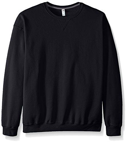 Fruit of the Loom Men's Fleece Crew Sweatshirt - Extra Sizes, Black, XXX-Large by Fruit of the Loom