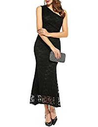 77a2384d8fa Women s Sexy Long Bridesmaid One Shoulder Cocktail Evening Party Dress