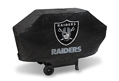 NFL Oakland Raiders Deluxe Grill Cover (Raiders Bbq Cover compare prices)