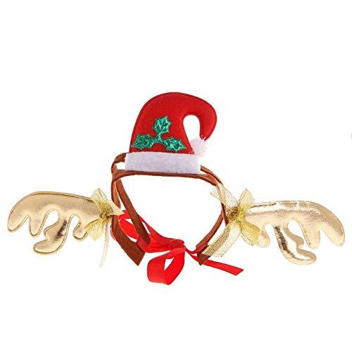 Cat Accessories - Christmas Pet Headband Deer Snowman Halloween Cute Costume Funny Dog Cat Kitten Puppy Mascot Cosplay - Pattern Tree Kitchen Pink Only Disney Cats Decor Costume Office -