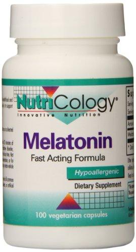 Nutricology Melatonin, 1.3mg, Vegicaps, 100-Count