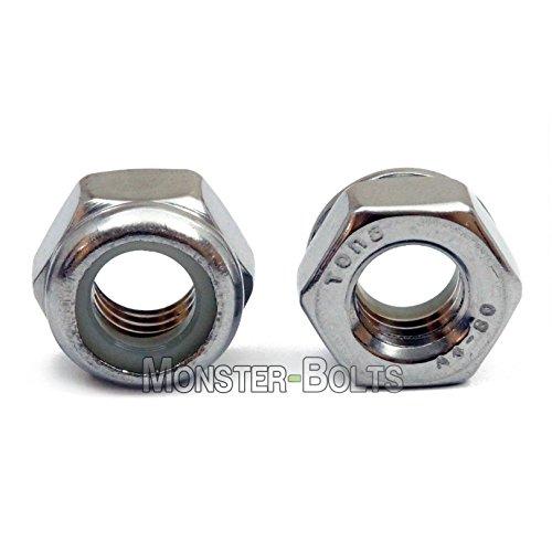 - (10) M10 x 1.50 Marine Grade Stainless Steel Nylon Insert Hex Locknuts, A4 (316) DIN 985 Metric Coarse Thread - MonsterBolts (10, M10-1.50)