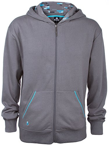 JINX Minecraft Big Boys' Diamond Premium Zip-up Hoodie (Gray, Medium)