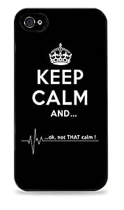 Keep Calm And Ok Not That Calm Flatline iPhone 6 Black Hardshell Case