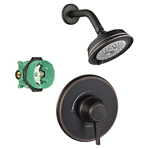 Hansgrohe KS15404-04070RB-2 Croma C 100 Showerhead Kit with PBV Trim, & Rough In Rubbed Bronze