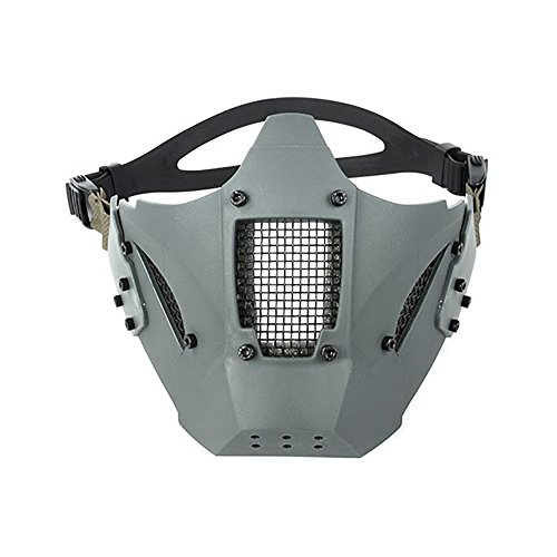 TMC Face Mask Modular Hard Shell Half Face Mask for Airsoft Paintball Milsim - Wolf -