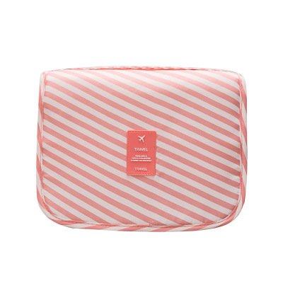 LULANDie Travel Kulturbeutel portable Kosmetik Paket von wichtigen Arzneimitteln, touristische Reisen waren,, 24 * 20 * 9,5 cm, rosa Streifen