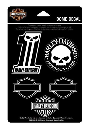(Harley-Davidson Midnight Assortment Dome Decals, 4.5 x 7 inches DC1246)