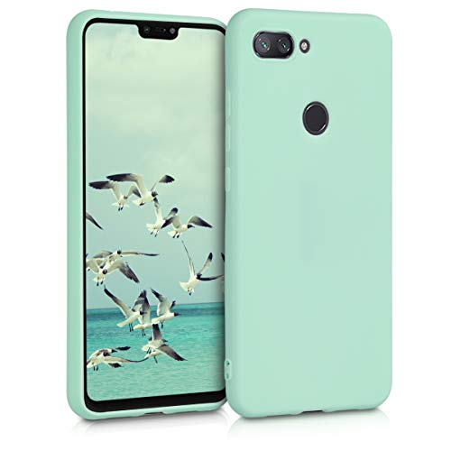 kwmobile TPU Silicone Case for Xiaomi Mi 8 Lite - Soft Flexible Shock Absorbent Protective Phone Cover - Mint Matte