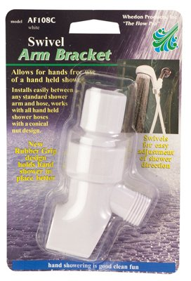 (whedon products af108c White, Swivel Shower Arm Mounting Bracket)