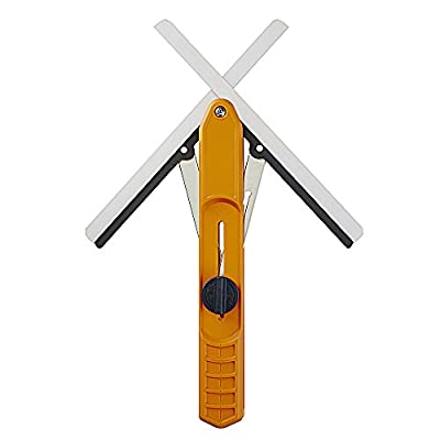 BORA 530401 MiteriX Angle Duplicating Tool. Miter Duplicator / Angle Measuring Tool that Splits in half So You Can Transfer the Exact Miter Angle to Your Miter Saw, Red/Silver