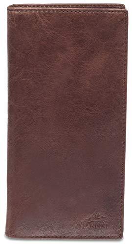 (Mancini Leather Goods Bridge Men's RFID Secure Breast Pocket Wallet (Burgundy))