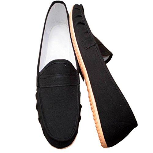 Basso Basse di Casuali di Nero Tela degli Scarpe della Tennis Uomini Scarpa da Solidi della Colori YunPeng Aiuto 1xq6wpf5