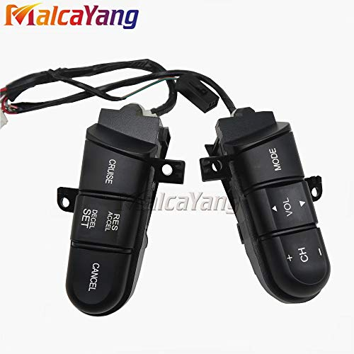 Color: Orange Light Fincos Steering Wheel Audio Control Switch 36770-SVA-A41 36770SVAA41 for Honda Civic 2006 2007 2008 Cruise Switch