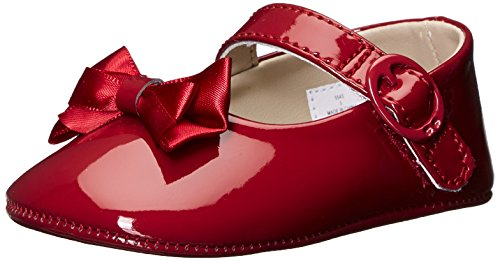 Baby Deer Girls' Patent SM with Bow Mary Jane - K, Red, 1 M US Infant