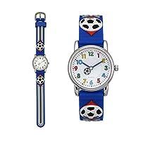 Zeiger Fußball Kinderuhr Armband Uhr Fußball Kinder Armbanduhr Blau Sportuhr...