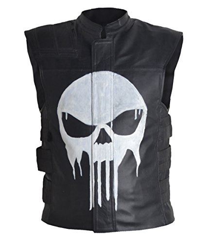 MSHC Punisher Faux Leather Vest (5XL) Black -