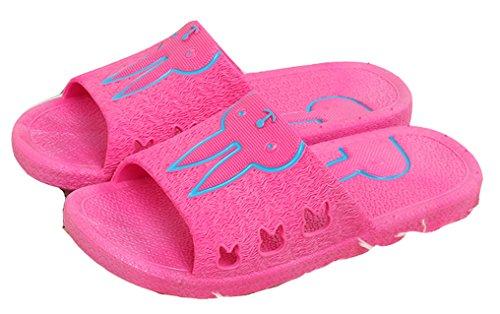 Blubi Donna Carino Coniglio Open Toe Comfort Doccia E Sandalo Da Spiaggia Sandalo Da Spiaggia (5.5, Rosa)