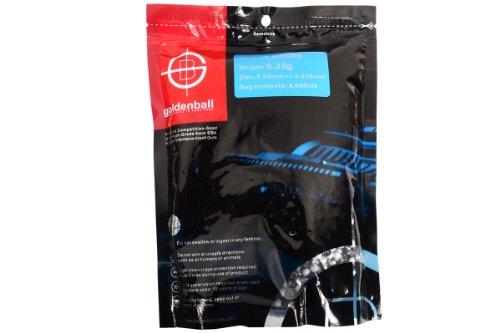 GoldenBall 0.20g ProSlick Series Professional Sport Airsoft 6mm JDM Spec. Mercado interno japonés Grado de rendimiento BBS - Negro / Blanco - Bolsa 4000