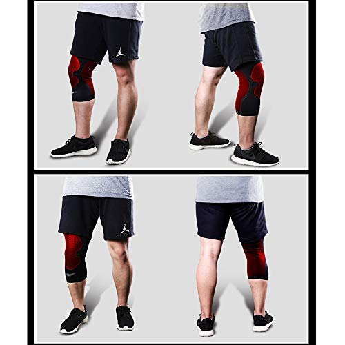 TY BEI Kneepad Sports Knee Pads Meniscus Outdoor Riding Knee Knee Pads - Three (Color : Red, Size : L) by TY BEI (Image #3)