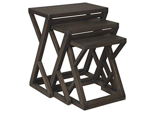Ashley Furniture Signature Design - Cairnburg Nesting Tables - Set of 3 - Weathered Brown Finish