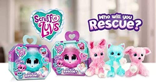 Two Little Live Pets Pets Scruff-a-Luvs Mystery Rescue Pet One Pink n One Blue/Aqua Bundle Set of Two, Best Toy 2018