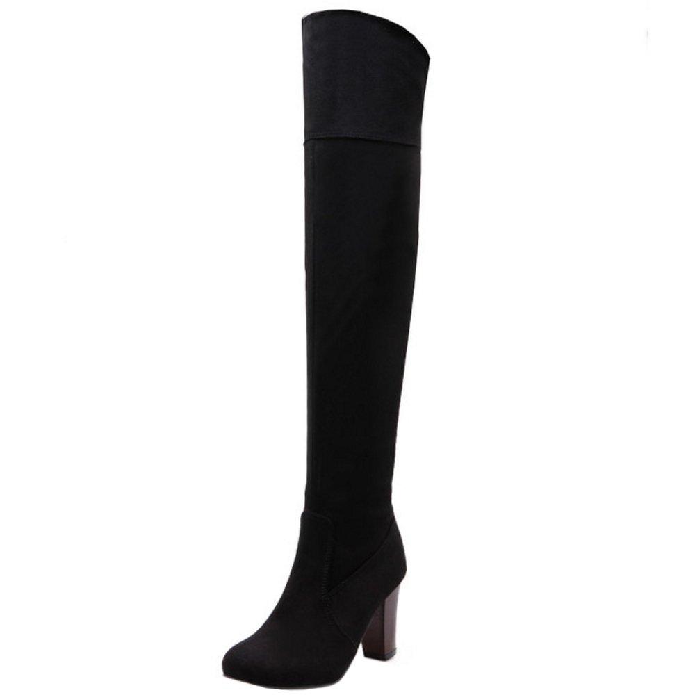 Zanpa Women Fashion Thight High Boots Platfrom