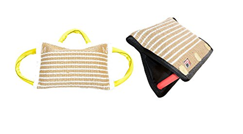 Bundle of 1 - 3 Handle Jute Bite Pillow Firm & 1 - 3 Handle Jute Bite Targeting Wedge - Redline K9 by RedLine K9