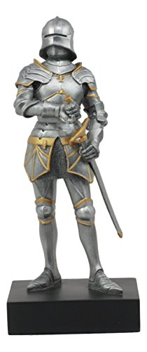 Ebros Holy Roman Empire Gothic Knight With Sword Statue 9