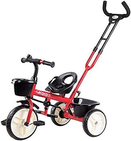 Triciclo para niños, bicicleta para niños Trike 2 en 1 con cesto ...