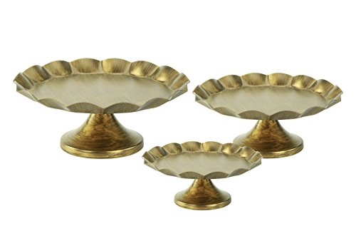 Stands Round Cupcake Stands Metal Dessert Display Cake Stand, Antique Gold ()