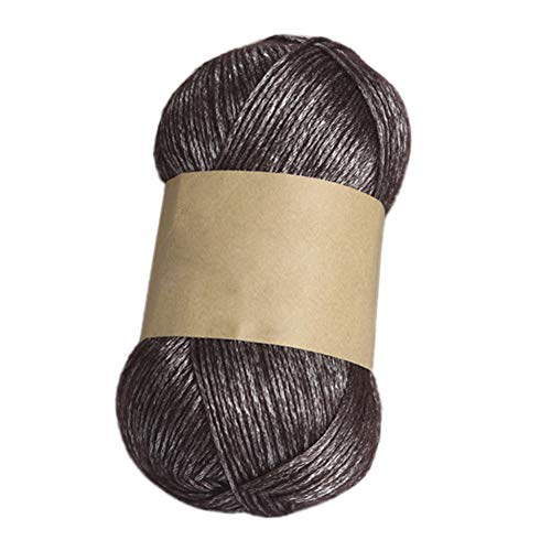 100g DK Yarn for Knitting and Crochet | Perfect Beginner Kit Woolen Yarn Clothes Sock Scarf Hat Gloves Sweater Woven Material - Coffee