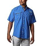 Columbia Men's PFG Bahama II Short Sleeve Shirt, Vivid Blue, Medium