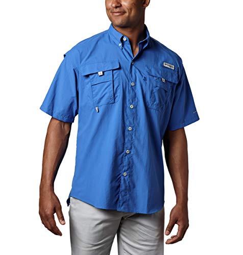 Columbia Men's PFG Bahama II Short Sleeve Shirt, Vivid Blue, Medium (Ucf Tent)