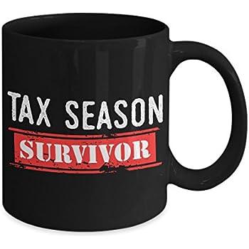 50698ed3 Amazon.com: Tax Season Survivor – Accountant White Funny Coffee Mug ...