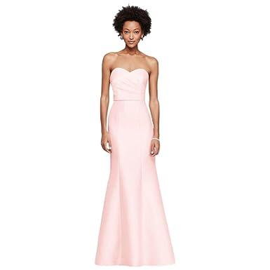 83f16dd8384 David s Bridal Extra Length Sweetheart Mikado Strapless Long Bridesmaid  Dress Style 4XLF19279