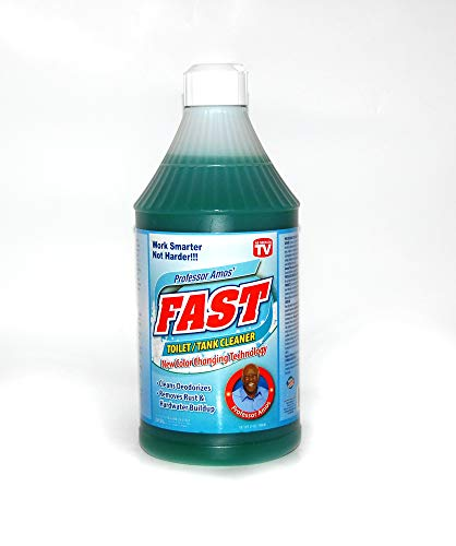 (Professor Amos' Fast Toilet & Tank 24 Applications -Cleaner Deodorizer/Remove Rust/Hard Water/Lime/Mildew/Mold )