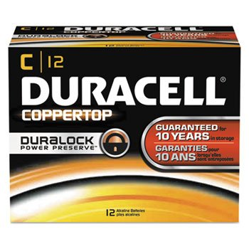 CopperTop Alkaline Batteries with Duralock Power Preserve Technology, C, 12/Pk, Sold as 1 Box
