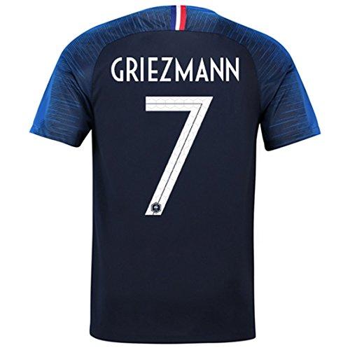 Redrun 2018 National Soccer Team France Griezmann 7 Home Men's Jersey Color Blue Size S