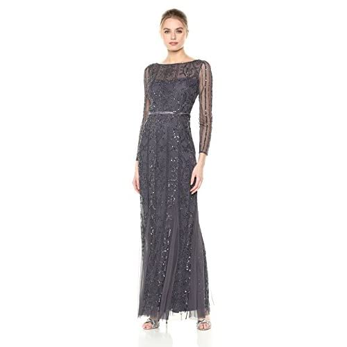 Adrianna Papell Women's Beaded Long Dress hot sale
