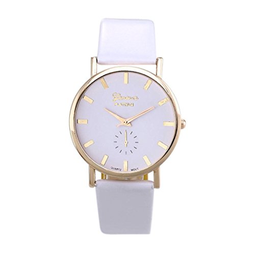 Vintage White Wrist Watch (SMTSMT Womens Leather Band Analog Quartz Wrist)