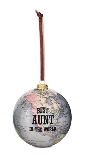 Pavilion Gift Company 61020 Aunt Globe Ornament, 3-3/4
